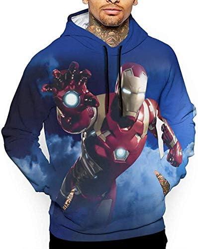 今季最新 メンズ スウェットシャツ フード付き アメリカ マーベル?コミック スーパーヒーロー 映画 アイアンマン キャラクター イラスト トレーナー?パーカー トレーナー フィットネス?トレーニング