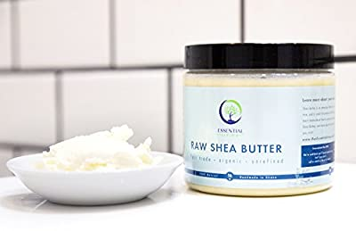 1 Pound Shea Butter: Raw - Organic, Unrefined, Fair Trade Shea Butter for Lotion, Soap, Body Wash, Hand Cream and Baby Eczema Moisture Therapy