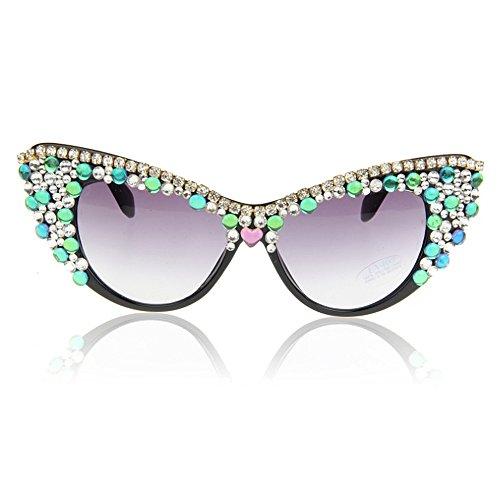 de sol de las sol de Unisex Gafas la gafas de clase Estilo hechas la alta Elegante a de semi de mano señora polarizadas sol sol playa de las polarizadas gafas cristal de playa Gafas de de la Retro de pWFnWcRZH