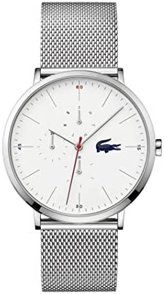 Lacoste Quartz Watch with Stainless Steel Strap, Silver, 20 (Model: 2011025) 1