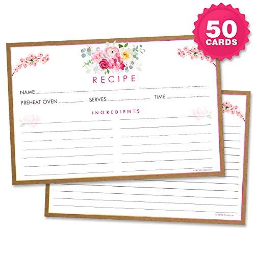 Floral Recipe Cards - 4