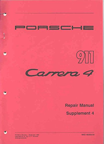 1989 Porsche 911 Service Manual Supplement (1989 Supplement)