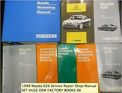 1998 mazda 626 service repair shop manual set factory oem books 98 (service  manual, the electrical wiring diagram manual, the bodyshop manual,