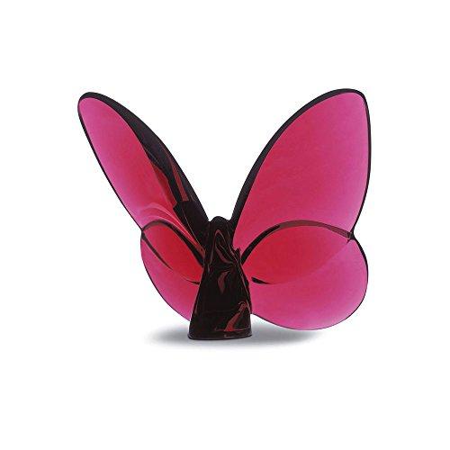 Escultura em Cristal Baccarat Papillon Rubi 8 x 6,5 cm