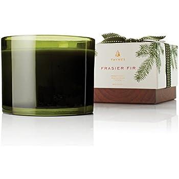 Thymes - Frasier Fir 3-Wick Seasonal Ceramic Wax Candle, 100-Hour Burn Time - 17 Ounces