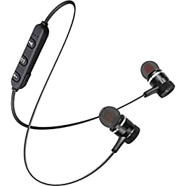 AC Accessories Light Weight Magnetic Bluetooth Headset Earphone & Calling Function Support for All Smartphone