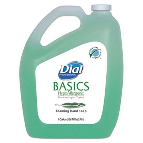 Dial Professional Basics Foaming Hand Wash, Original Formula, Fresh Scent, 1 Gallon Bottle - Includes four per case.