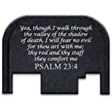 Custom Rear Slide Cover Plates - Psalm 23:4, by Fixxxer LLC, fits most Glock Models Gen 1,2,3,4 only except G42, G43