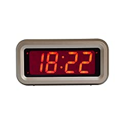 Kwanwa Digital Alarm Clock with LED Display (Gold) Small Home or Portable Design | Battery Powered | Loud, Clear Sounds | Vintage [Updated Version]