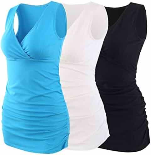 7d1de335da879 KUCI Maternity Nursing Tank Top, Women Maternity Pajama Tops Nursing Cami  Sleep Bra For Breastfeeding