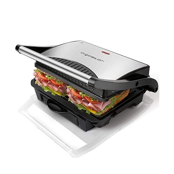 Aigostar Hett 30HHJ - Panini Maker/Griglia, Pressa a sandwich, Griglia elettrica, 1000 Watt, Fredda al tocco… 1