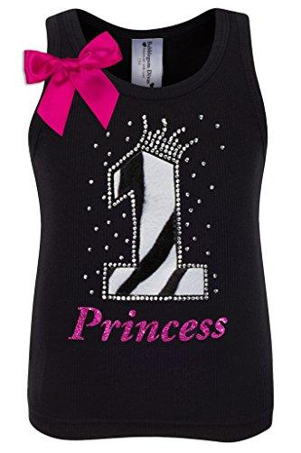 Bubblegum Divas Baby Girls 1st Birthday Black White Zebra Print Animal Shirt 18mos