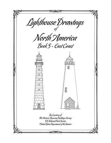 (Lighthouse Drawings of North America, Book 5, East Coast)