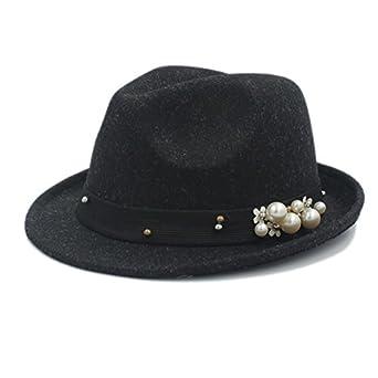 e859429ad65 Wool Hat, 100% Wool Women Felt Fedora Hat For Elegant Lady Gangster Trilby  Homburg