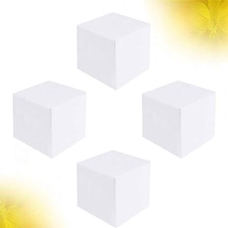 Healifty 12pcs Rectangular Polystyrene Foam Block Craft Foam Cube Foam Brick for Sculpture Modeling DIY Christmas Ornaments Arts and Crafts