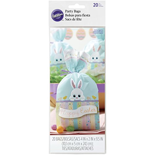 (1912-9731 Wilton Easter Bunny Treat Bags, 20-Count)