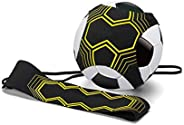 Soccer Kick Trainer Hands Free Solo Football Agility Training- Fits Ball Size 3, 4, and 5, Perfect for Adults