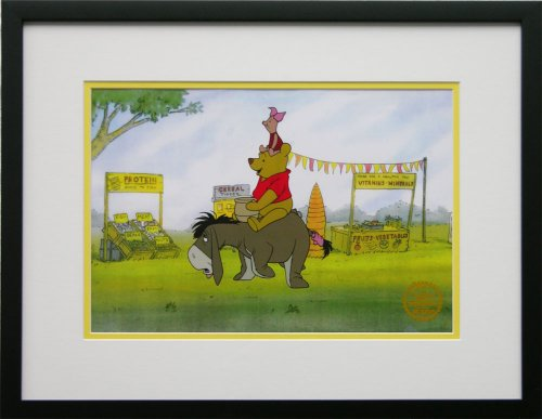 Winnie The Pooh, Piglet and Eyore - Walt Disney Limited Edition Animation Cel, Framed, DC-WTP-16F
