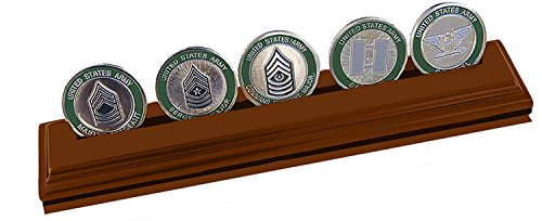DECOMIL Military Collectible Challenge Coin Holder, Medium 1 Rows, Walnut by DECOMIL