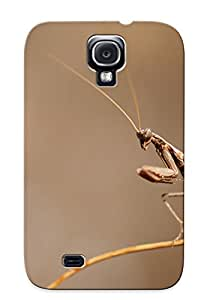 New Fashion Premium Tpu Case Cover For Galaxy S4 - Animal Praying Mantis Case For New Year's Day's Gift