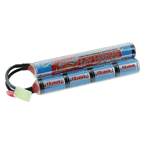 Tenergy 9.6V NiMH 1600mAh Butterfly Mini Battery Pack with Mini Tamiya Connector for airsoft guns #11423