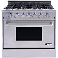 NXR Elite Stainless-Steel 36 Gas Range with Convection Oven