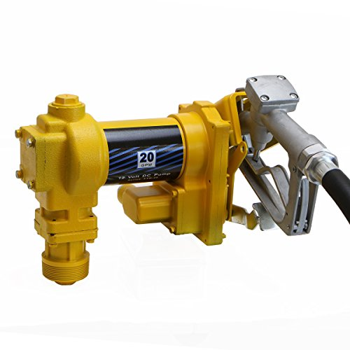 - XtremepowerUS 12 Volt DC 20GPM Gasoline Fuel Transfer Pump Self-Priming W/Nozzle
