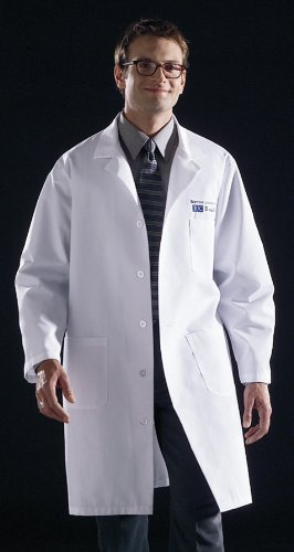 (Medline 83044QHWM Unisex Knee Length Lab Coat, Md)
