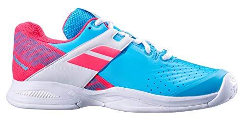 De 36 Las Zapatillas Allcourt Junior Azul Propulse Niños Tenis Blanco Zapatilla Todas Babolat Claro 5 Superficies fq6Xz