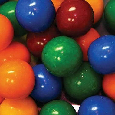 Dubble Bubble Cry Baby Sour Guts 24mm Gumballs 1 Inch, 3 Pounds Approximately 150 Gum Balls. (Bubble Baby Gum)
