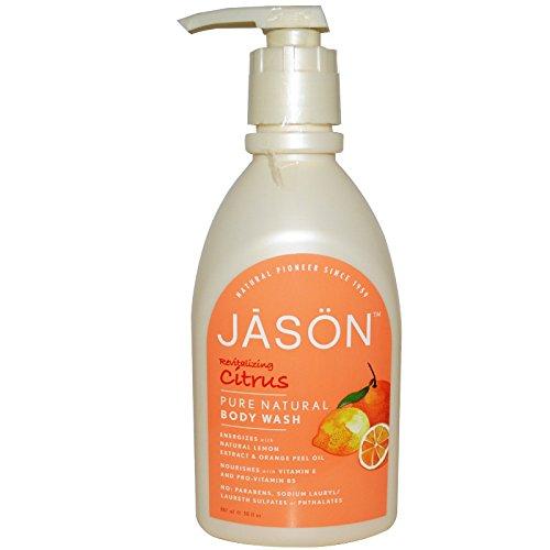 Jason Chamomile Satin Soap - Jason Natural, Pure Natural Body Wash, Revitalizing Citrus, 30 fl oz (887 ml) - 2pc