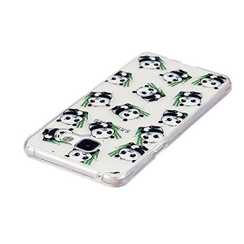 Samsung Galaxy A32016caso claro, caso de goma transparente para Samsung Galaxy A32016, Meet de clara prueba de golpes suave Durable resistente a los arañazos Jelly Goma TPU Funda Carcasa de Piel pa Small panda