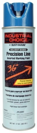 Industrial Choice M1600/M1800 System Precision-Line Caution Blue Inverted Marking Paint [Set of 12]