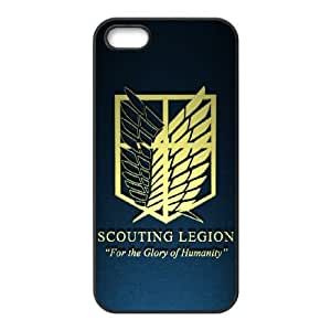 Special Design Case iPhone 5, 5S Black Cell Phone Case Cbmsw Attack On Titan Durable Rubber Cover