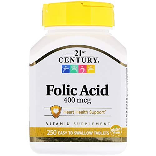 (21st Century, Folic Acid, 400 mcg, 250 Tablets )