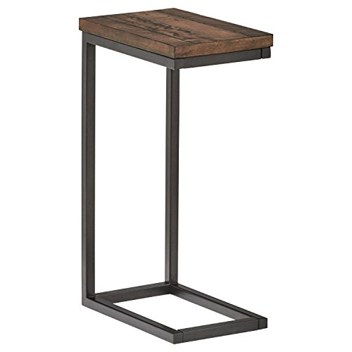 Stone Accent Table - Stone & Beam Larson Industrial Wood & Metal L-Shaped End Table, 16