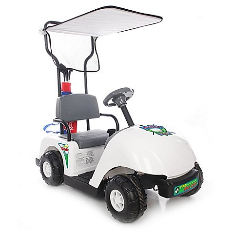Cart Golf Pro - Kid Motorz Jr. Pro Golf Cart 6-Volt Ride-On in White