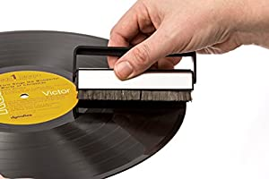 Vinyl Record Cleaning Brush Set - Carbon Fiber Brush, Microfiber Cloth and Anti-Static Solution Kit by Record-Happy. Keep your Prized Album Collection like New