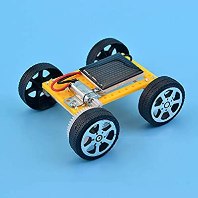zhenleisier DIY Assembly Mini Solar Powered Car Vehicle Kids Experiment Interactive Development Educational Kids Toy Gift: Home & Kitchen