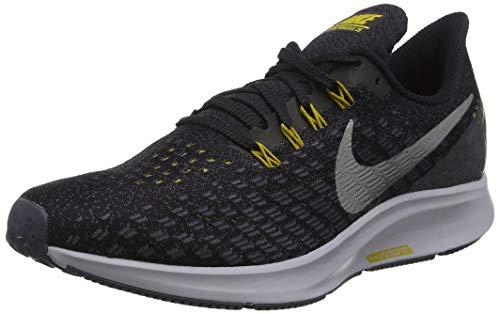 Nike Men s Air Zoom Pegasus 35 Running Shoe Black Metallic Pewter Gridiron Peat Moss Size 9.5 M US
