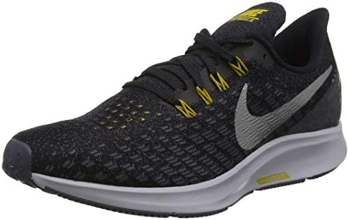 Nike Men s Air Zoom Pegasus 35 Running Shoe Black Metallic Pewter Gridiron Peat Moss Size 9.5 M US