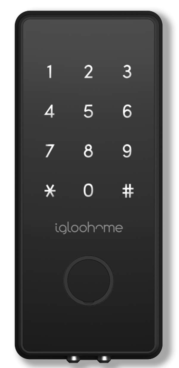 Igloohome Smart Electronic Deadbolt 2S, Grant & Control Remote Access with Pin Code - Touch Screen Keypad with Built-in Alarm - Bluetooth Enabled Works Offline - Works with Your Smartphone