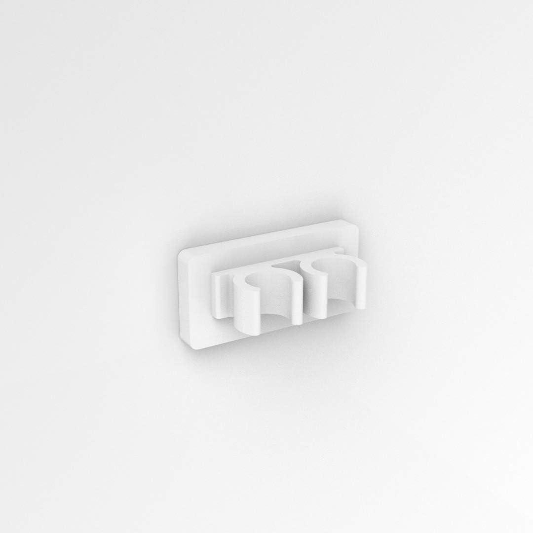 Acrylique Plexico Support pour t/ête de brosse /à dents /électrique Oral B Blanc brillant 2 Head gloss white