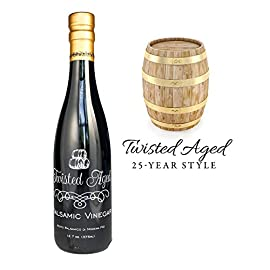 Twisted Olive Imports, Vinegar Aged Balsamic 25 Year, 12.68 Fl Oz 1 Extra Thick And Sweet, All Natural