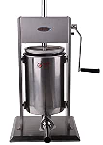 Hakka Sausage Stuffer 2 Speed Stainless Steel Vertical Sausage Maker (32Lb / 15 Liter)