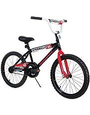 "Dynacraft Magna Throttle - Bicicleta BMX Street/Dirt Bike de 20"", Color Negro, Rojo y Blanco"