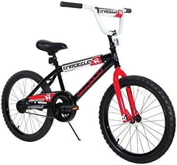Dynacraft Magna Throttle Boys BMX Street Dirt Bike 20 , Black Red White