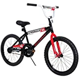 "Dynacraft Magna Throttle Boys BMX Street/Dirt Bike 20"", Black/Red/White"