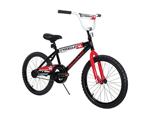 Dynacraft Magna Throttle Boys BMX Street/Dirt Bike 20″, Black/Red/White