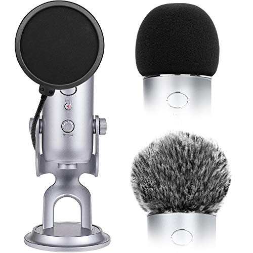 Microphone Cover for Blue Yeti Foam Cover Pop Filter for